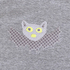 T-Shirt grau mit Applikation Fledermaus
