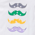 T-Shirt weiß mit Applikation Moustache
