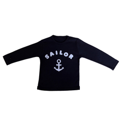 T-Shirt navy mit Applikation Sailor